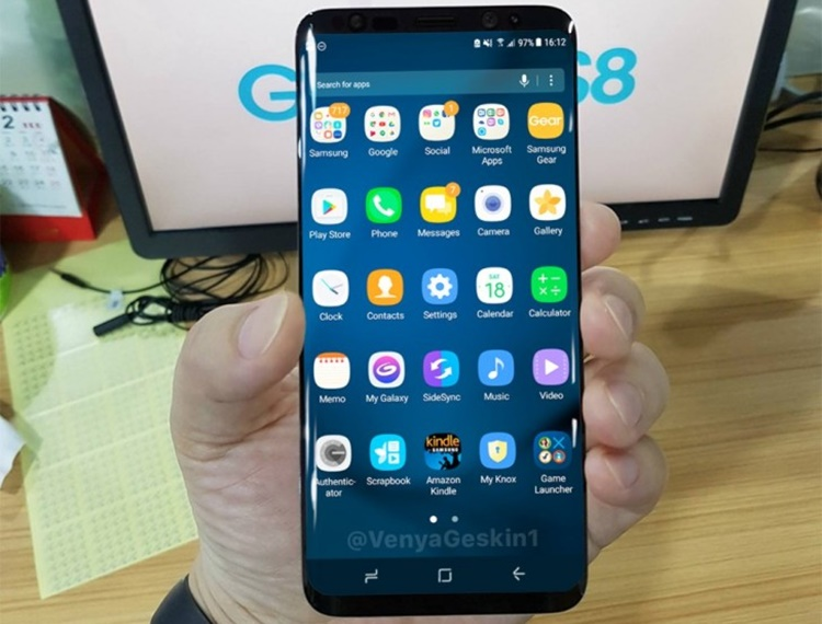 User Interface Samsung Galaxy S8