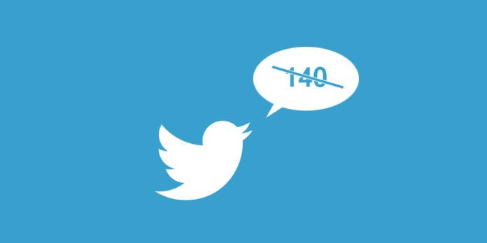 Jumlah karakter Twitter