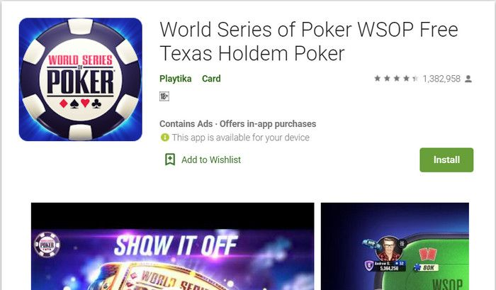 game judi android World Series of Poker