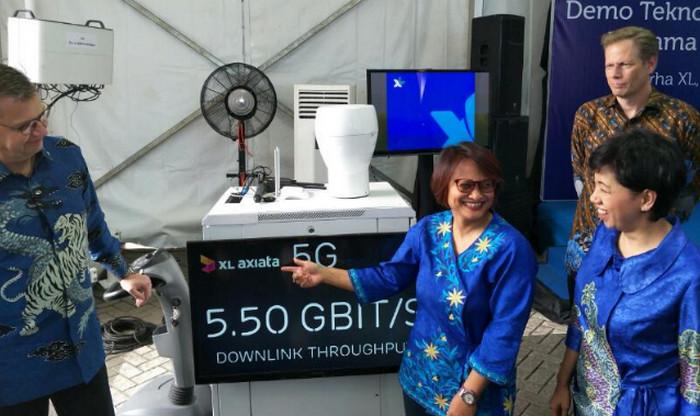 XL melakukan uji coba jaringan 5G (Faisal/Telset.id)