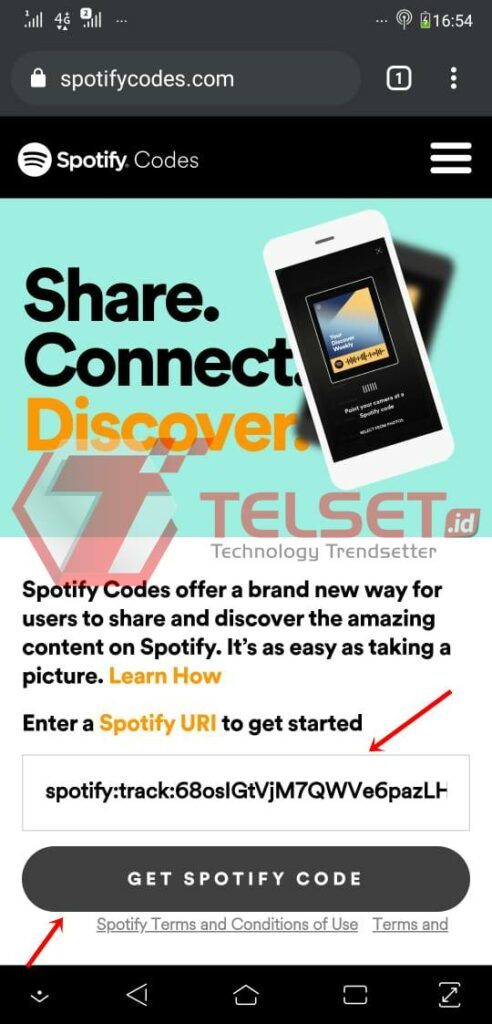 spotify code link