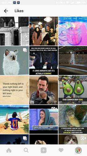 cara melihat postingan yang disukai di instagram