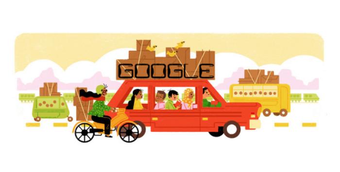 Google Doodle Juga Ikut Mudik Lebaran