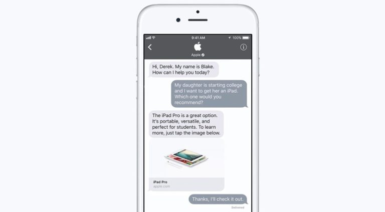 """Saingi Facebook, iOS 11 Juga Bisa """"Business Chat"""""""