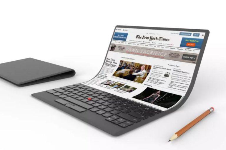 Lenovo Pamer Konsep Laptop Layar Fleksibel
