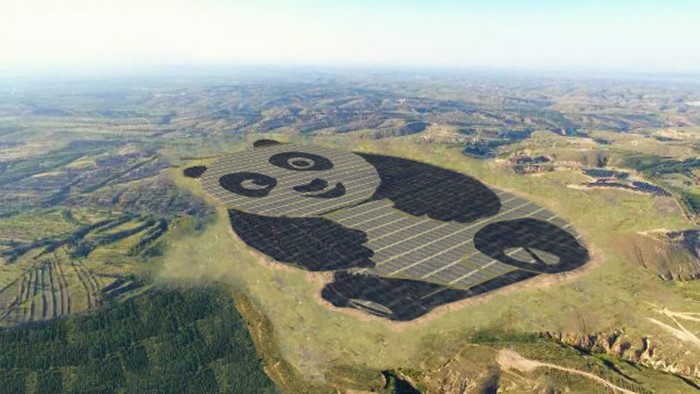 Lucu! Pembangkit Listrik Tenaga Surya di China Mirip Panda