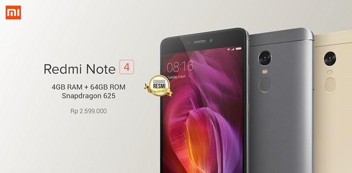 Xiaomi Redmi Note 4 RAM 4GB