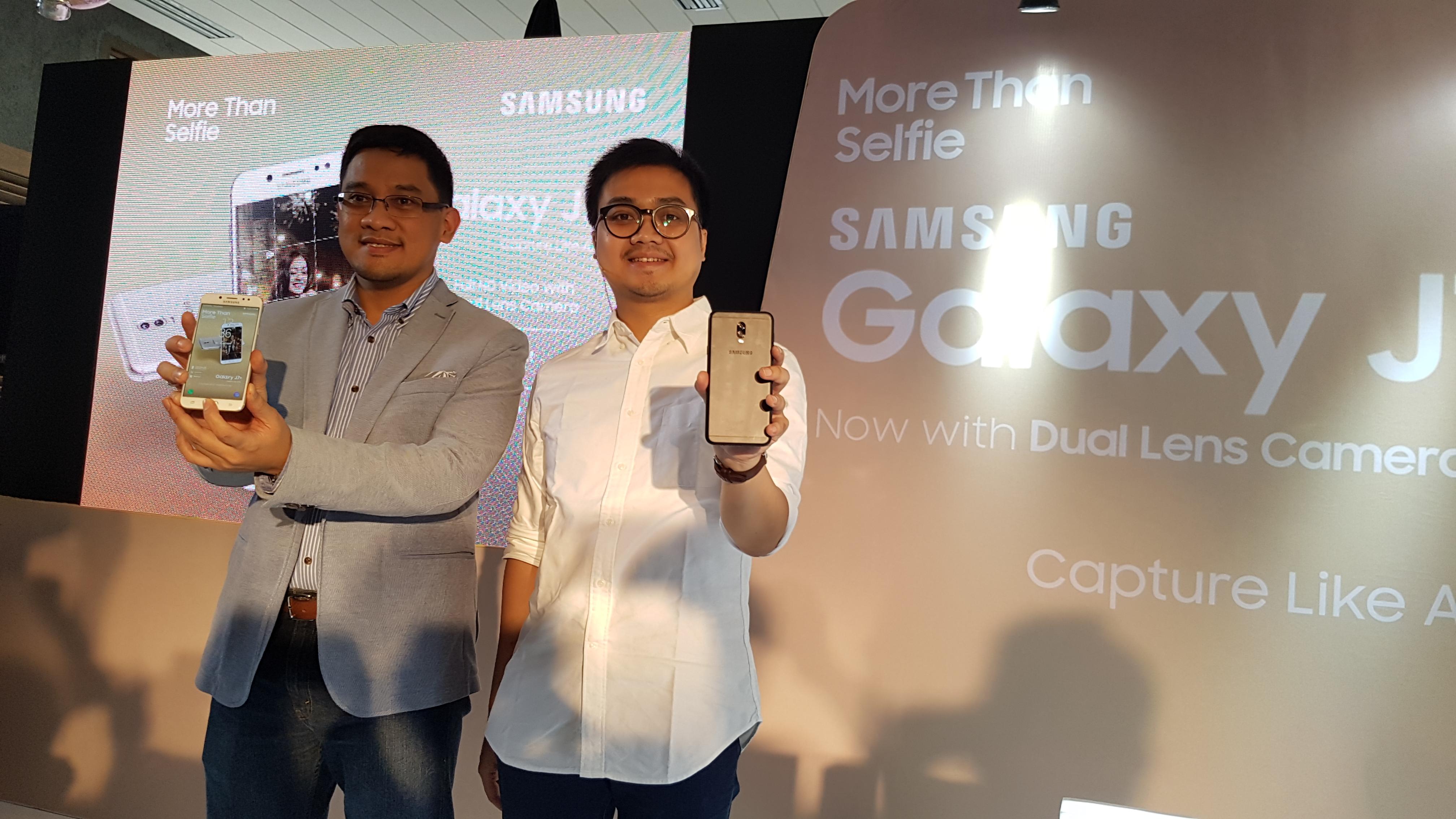 Head of Product Marketing, IT, & Mobile Samsung Indonesia, Denny Galant dan Product Marketing Samsung Mobile, Irfan Rinaldy (Maulia Salamuddin/Telset.id)