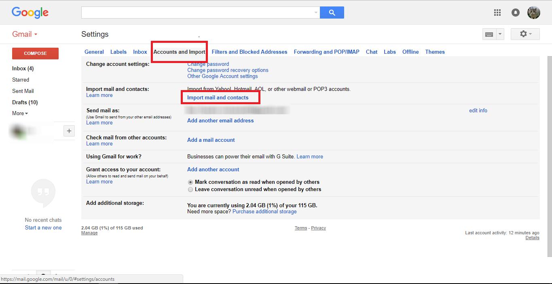 Import Yahoo email (telset.id | nur chandra)