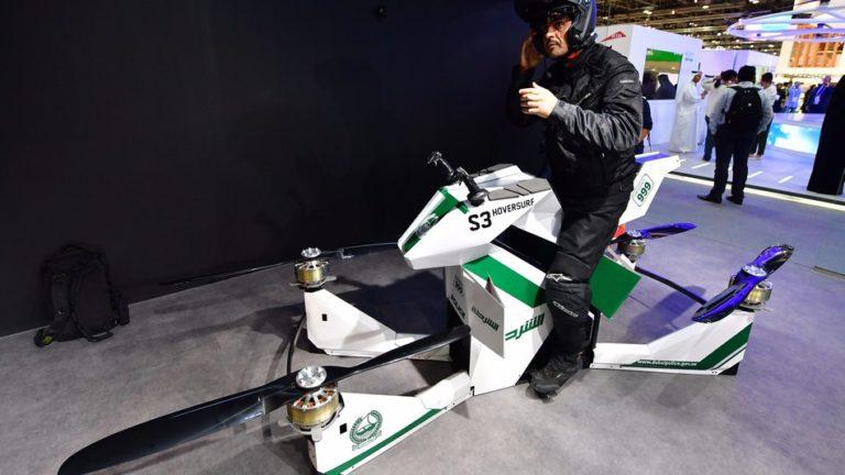 Polisi Dubai Punya Pasukan 'Motor Terbang'