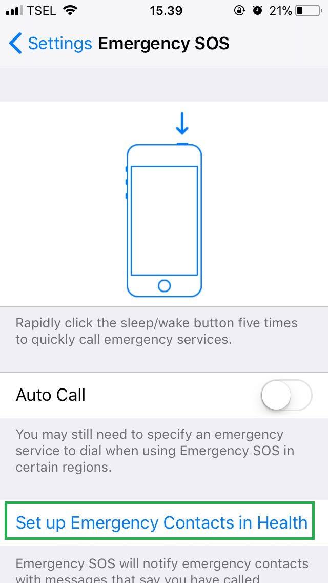 iOS 11 Emergency SOS (telset.id | nur chandra)