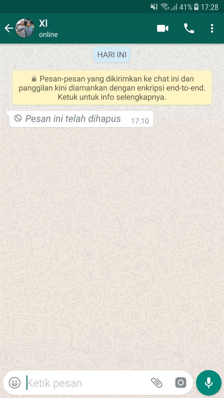 Notification History whatsapp