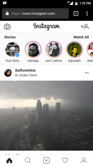 upload instagram story tanpa aplikasi