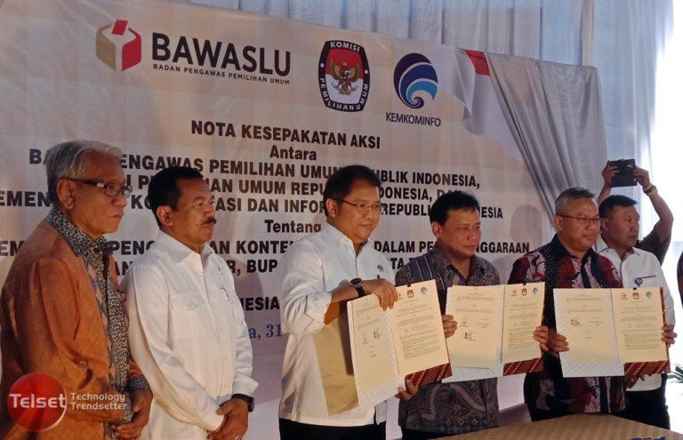 Konten Negatif Cederai Demokrasi Indonesia