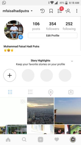 melihat story instagram yang hilang