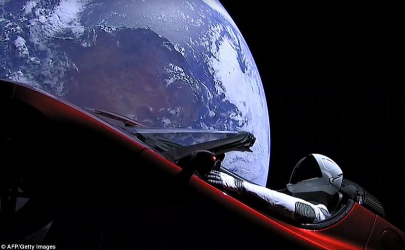 Tesla Roadster Starman Mars