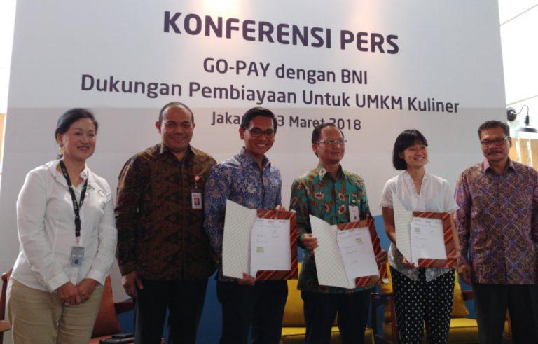 Go-Pay dan BNI Kerjasama Bantu UMKM Dapatkan KUR