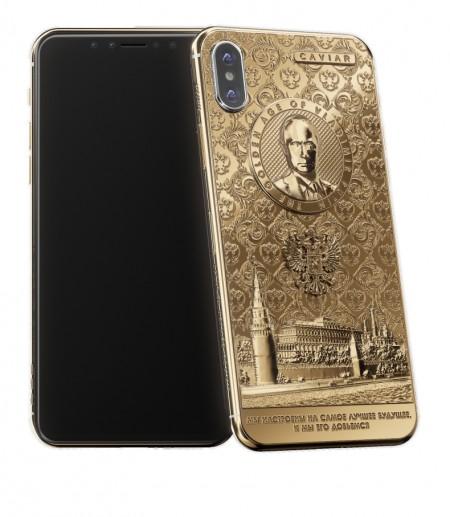 Ini Dia iPhone X Berlapis Emas 24 Karat versi Vladimir Putin
