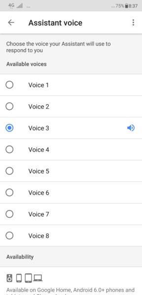 jenis suara google assistant