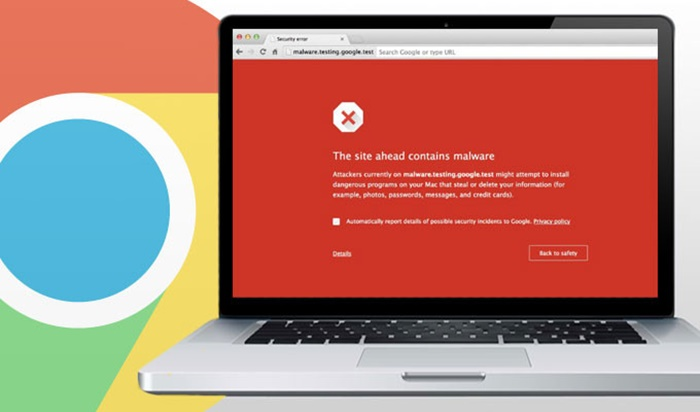 Windows Defender di Google Chrome
