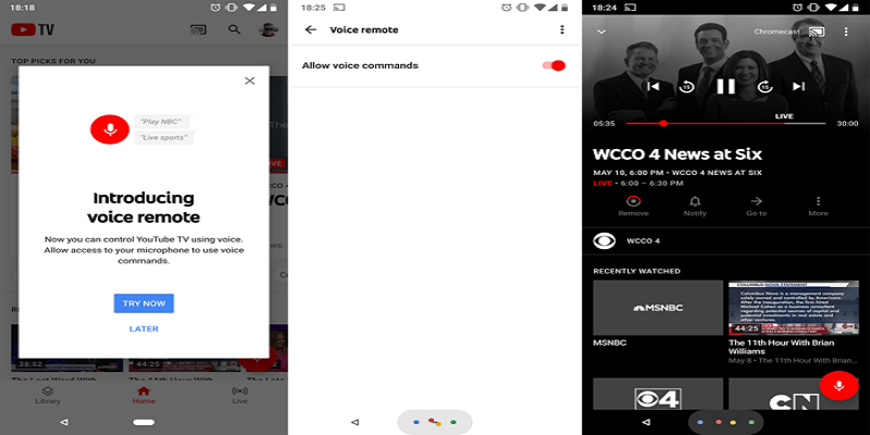 Youtube TV Punya Fitur Voice Remote