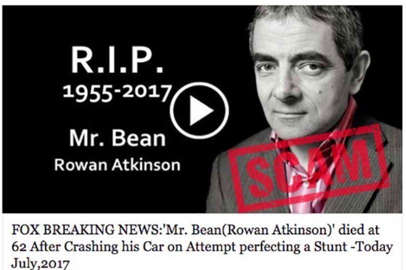 Hoaks, Berita Kematian Mr Bean Dipakai Penipuan