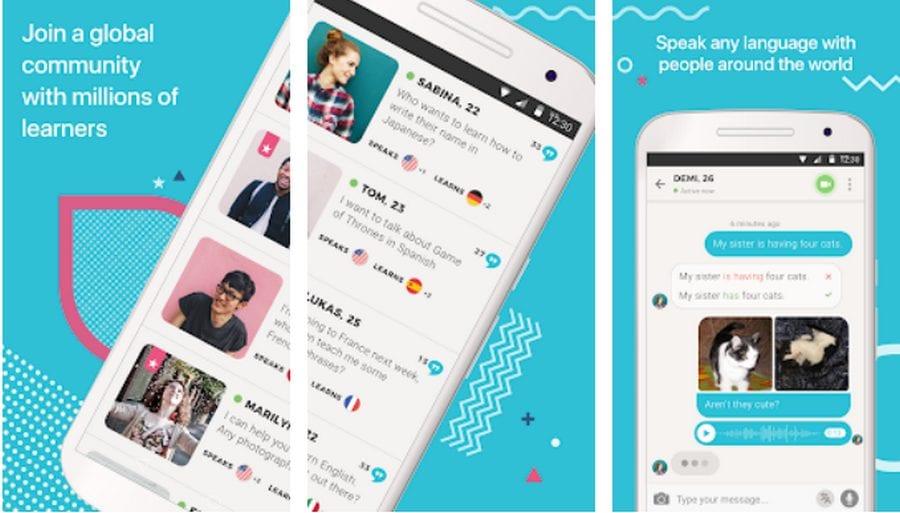 aplikasi belajar multi bahasa Tandem Language Exchange