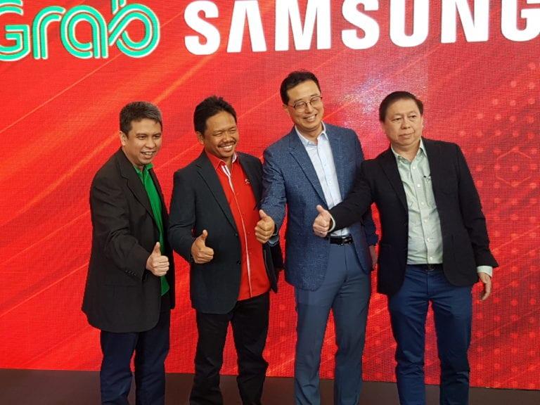 Grab, Telkomsel dan Samsung Luncurkan Smartphone Khusus Driver