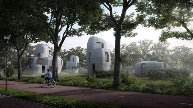 Insinyur Belanda Bikin Lima Rumah Gunakan Printer 3D
