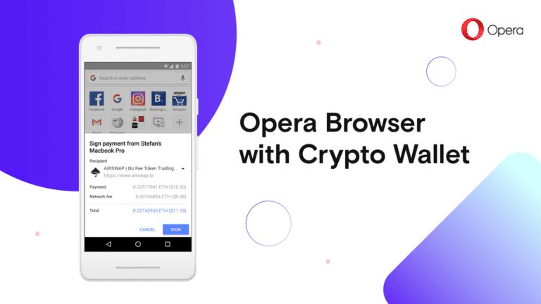Opera Hadirkan Layanan Dompet Mata Uang Kripto di Desktop