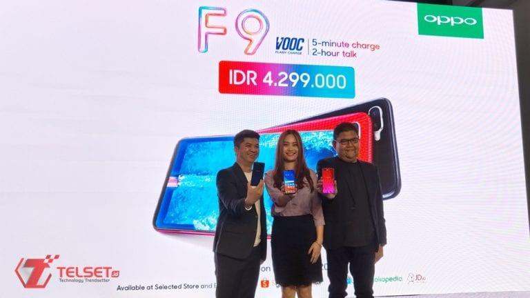 """Resmi! Oppo F9 Dirilis di Indonesia dengan """"Waterdrop Notch"""""""