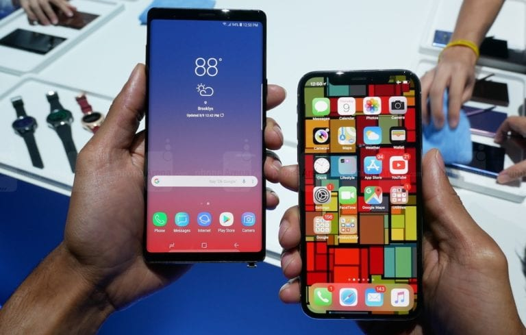 Samsung Galaxy Note 9 vs iPhone X, Siapa Juaranya?