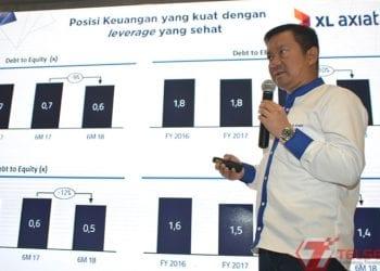 Direktur Keuangan XL Axiata Mohamed Adlan (Hendra Wiradi/Telset.id)