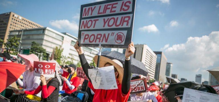 Ribuan Perempuan di Korsel Demo Protes Aksi Spycam