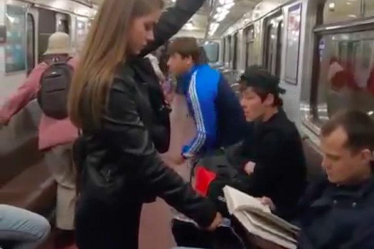 Video Viral Aksi Gadis di Kereta Rusia Cuma Settingan