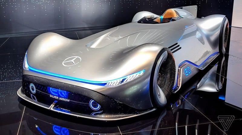 Mercy Listrik Bertampang Klasik Ini Bisa Mengalahkan Mobil Balap F1
