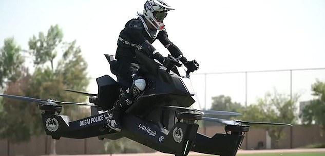 Keren! 2020 Polisi Dubai Mulai Gunakan Motor Terbang