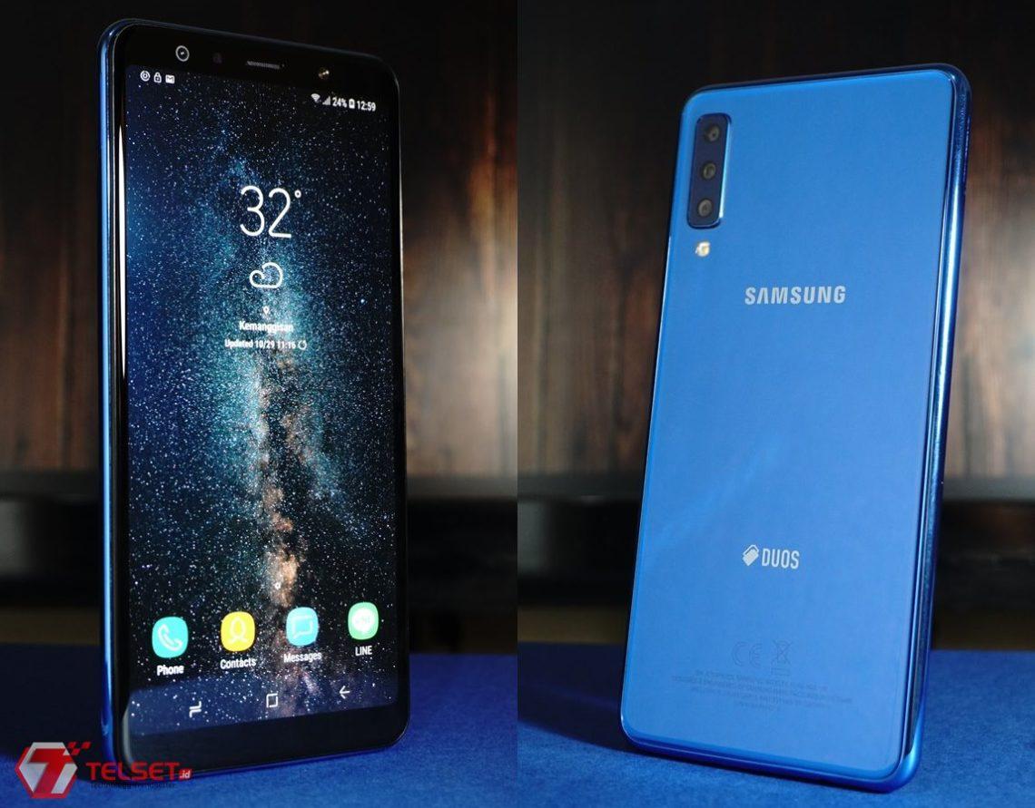 Review Samsung Galaxy A7 (2018): Beda, dengan Tiga Kamera