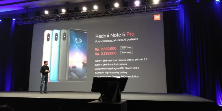 Xiaomi Redmi Note 6 Pro Masuk Indonesia, Bawa 4 Kamera