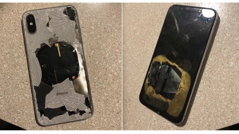 iPhone X meledak