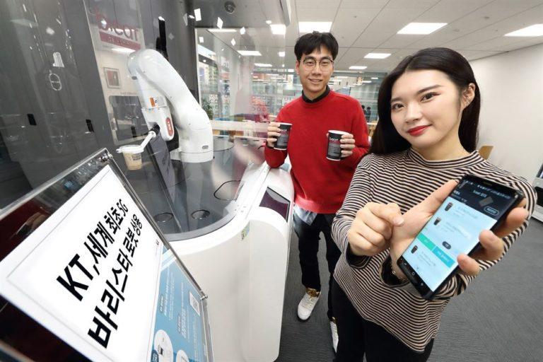 Kafe di Korea Selatan Hadirkan Robot Barista 5G