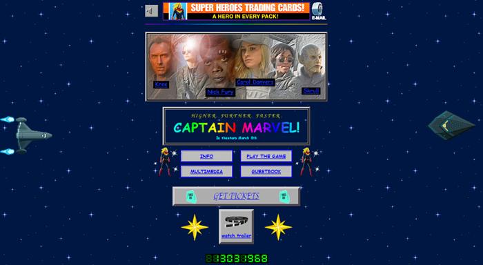Unik! Situs Resmi Captain Marvel Bergaya 'Jadul'