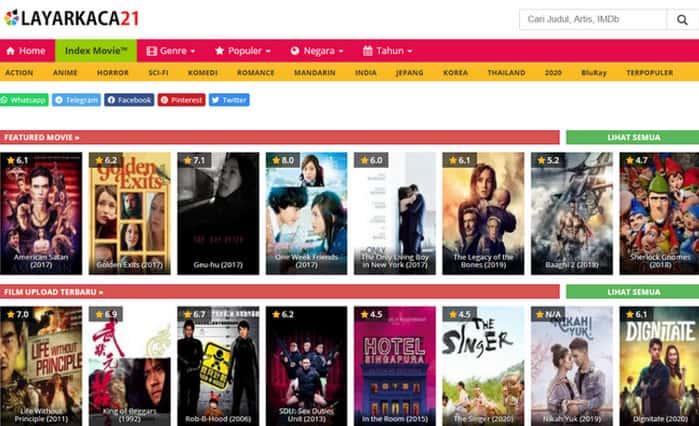 LK21 aka Layarkaca21, Aplikasi Nonton Film Gratis Paling Ngehits