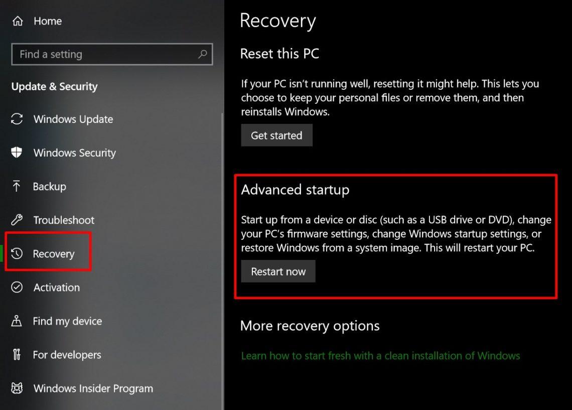 Startup Repair disk error windows 10 restart