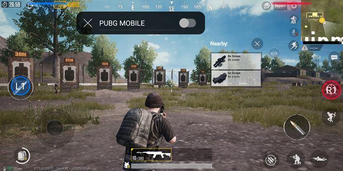 cara setting air trigger rog phone