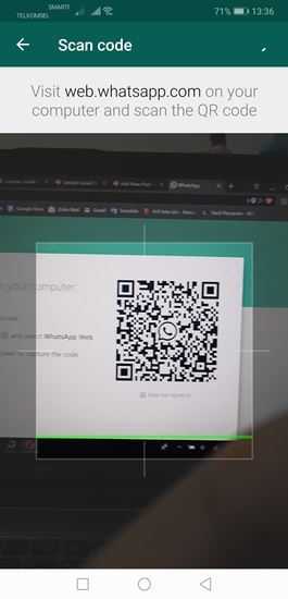 scan whatsapp web di ponsel