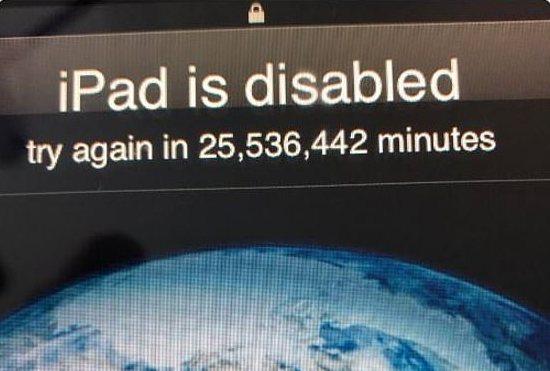 Balita Kunci Password iPad Ayahnya sampai 50 Tahun