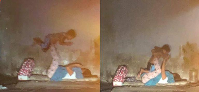 Foto Ibu dan Anak Bercanda di Trotoar Ini Viral