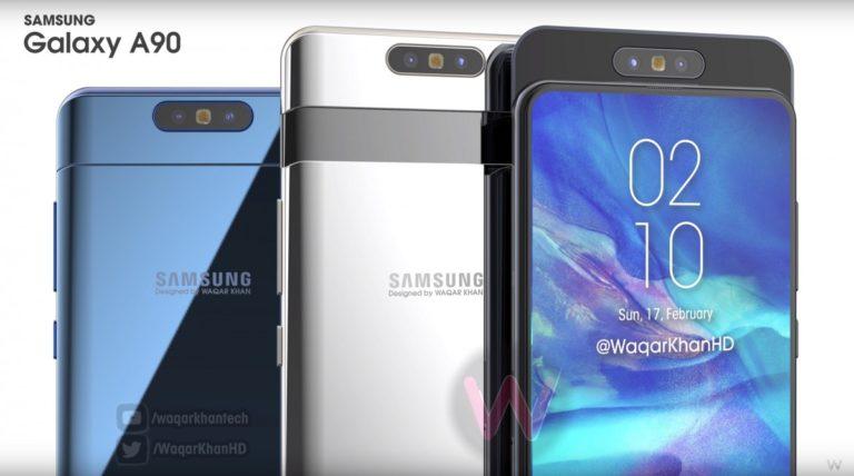 "Bocoran Desain Samsung Galaxy A90 dengan ""Kamera Berputar"""