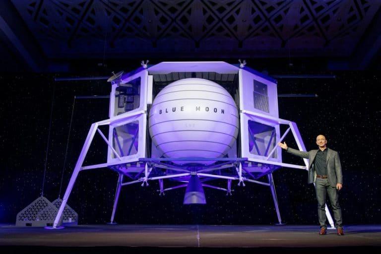 Bezos Pamer Blue Moon, Pengangkut Bahan Bangunan ke Bulan